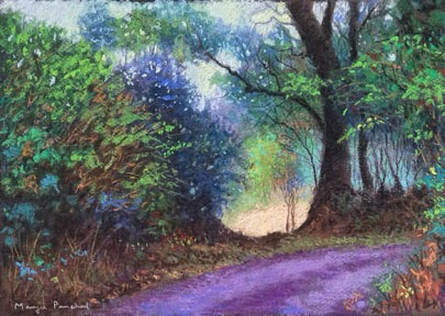 Original soft pastel painting of a Coorg Landscape by Manju Panchal