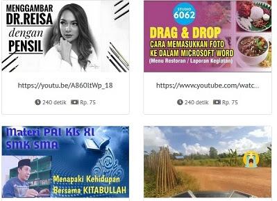 gambar lihat video youtube dibayar  100 ribu