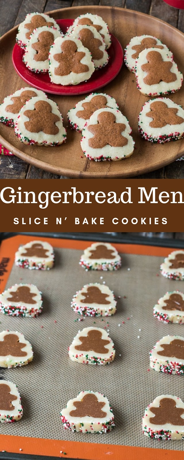 Gingerbread Men Slice N' Bake Cookies