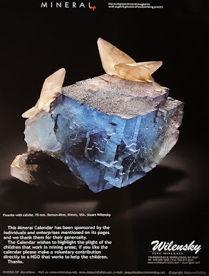 Fluorita, calcita, calendario, mineral