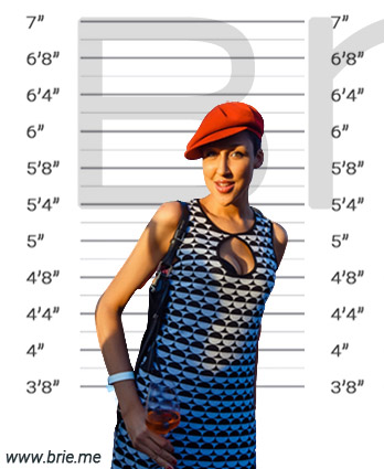 Amy Pieterse standing in front of height background