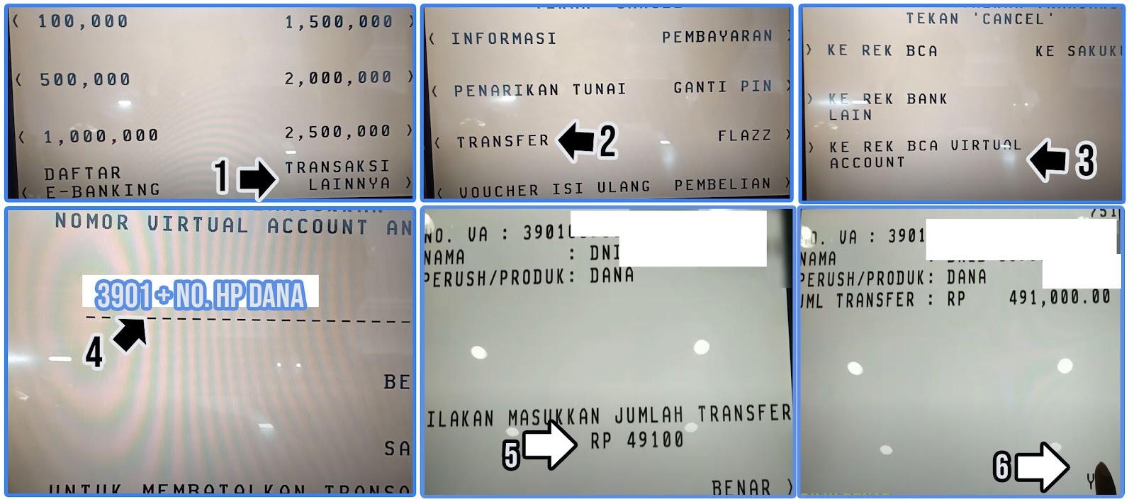Cara Top Up Dana Lewat ATM BCA