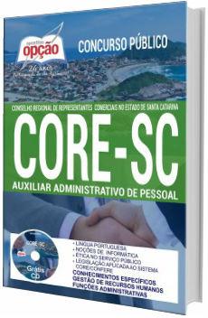 Apostila concurso CORE-SC 2017 Auxiliar administrativo de Pessoal
