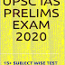 UPSC IAS Prelims 2020 Subject Wise Test Papers and Current Affairs pdf Book Download