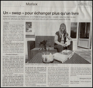 swap article Ouest-France Isabelle Fontaine Bibliza lecture Sibiril