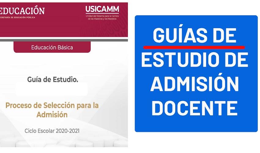 Guías de estudio de admisión docente (USICAMM)