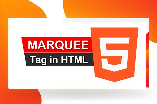 What is the marquee tag in HTML?