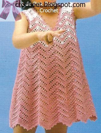 9cadde499fca3 فستان كروشية صيفي للبنوتة فستان من غرزة الويف مع تنسيق ناعم للألوان ونهايات  من غرزة البيكو اتمنى ان يعجبك وتفرحي بنتك في تنفيذ البترون