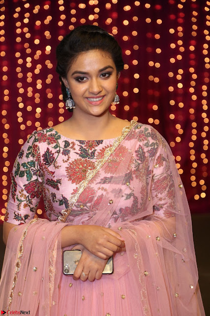 Keerthi Suresh Looks super cute in Designer Anarkali Dress at Zee Telugu Apsara Awards 2017 02.JPG