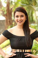 Mannara Chopra in Short Off Shoulder Black Dress ~  Exclusive 032.JPG