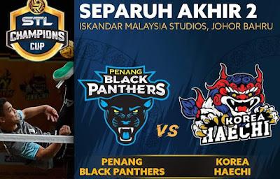 Live Streaming Penang Black Panthers vs Korea Haechi STL Champions Cup 27.12.2019