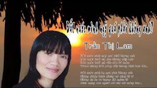 Trần Thị Lam với bài thơ mang lại tai tiếng