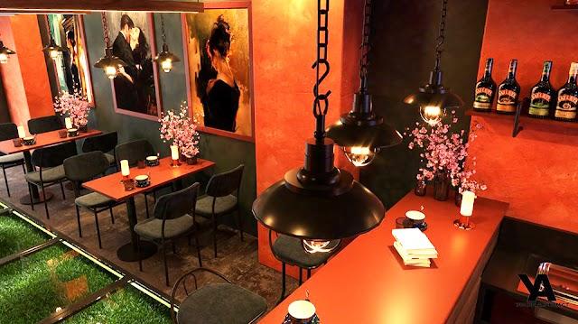 Nội thất quán cà phê sang trọng và ấm cúng có model su tham khảo