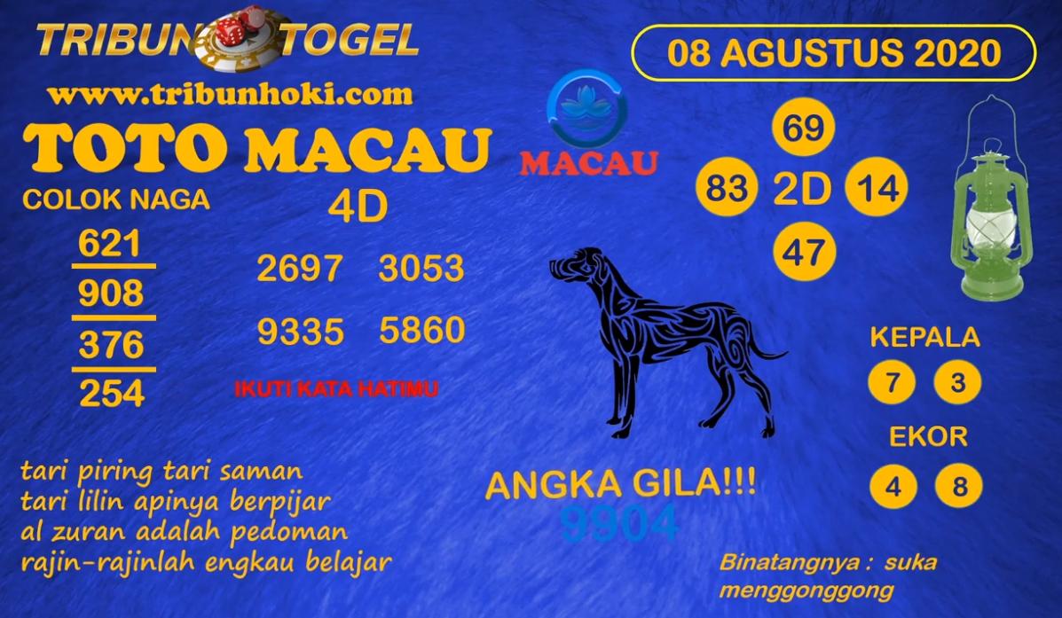 Prediksi Tribun Togel Macau Sabtu 08 Agustus 2020