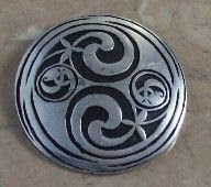 Celtic pewter brooch by St Justin