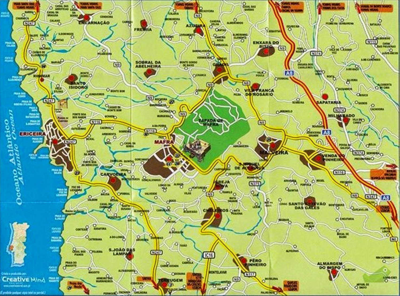ericeira mapa Mapas de Ericeira   Portugal | MapasBlog ericeira mapa