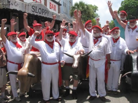 Ernest Hemingway look alike contest Sloppy Joe's Bar Key West