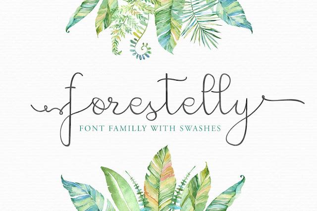 descargar, fuente, tipografia, forestelly, thehungryjpeg