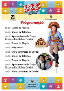 FESTA DA CRIANÇA DA REDE MUNICIPAL DE ENSINO - 2019