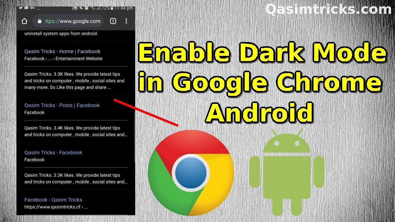 How to Enable the Dark mode in Google Chrome Android 2019 - Qasim Tricks