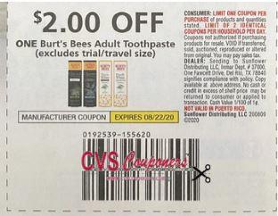 burts bee coupon