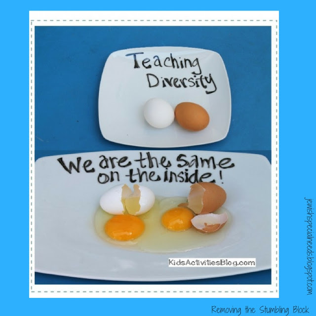 Teaching Diversity with Eggs; Removing the Stumbling Block