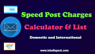 Speed Post Charges, Speed Post Charges Calculator in india
