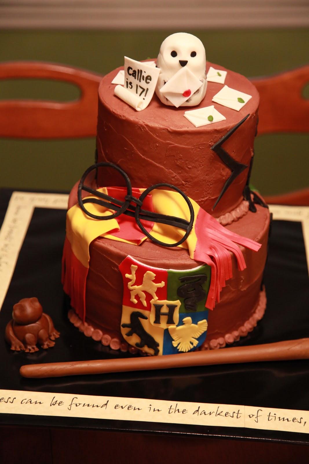 The Cake Box Girls Harry Potter Birthday Cake