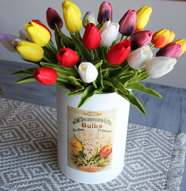A Simple Spring Flower Bucket DIY From Itsy Bits And Pieces Blog