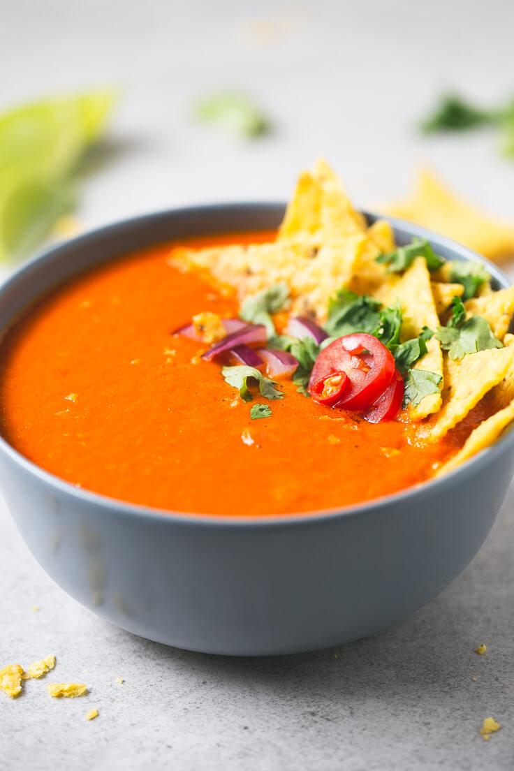 Spicy tomato soup   danceofstoves.com #vegan