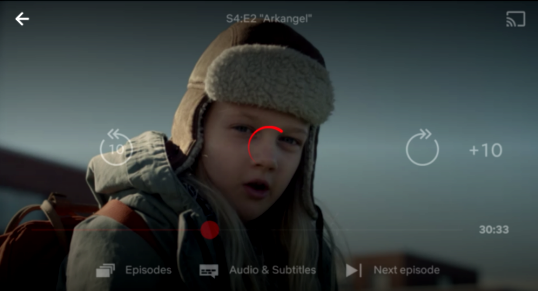 Netflix app comes with a new video player
