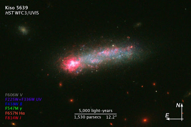 Hubble reveals stellar fireworks in 'Skyrocket' Galaxy
