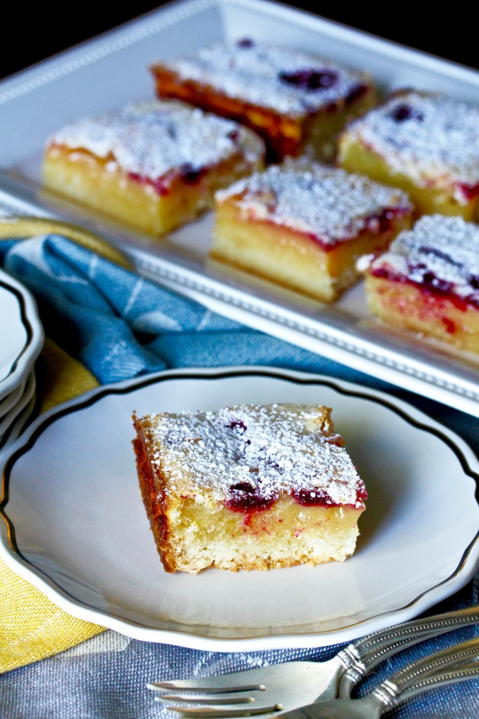 These Blackberry Lemon Bars are the perfect summer dessert.