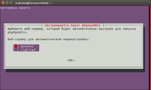 Выбор веб-сервера для PhpMyAdmin