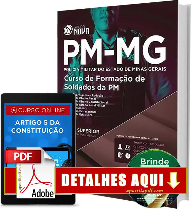 Apostila PMMG 2016 Curso de Formação de Soldados Impressa