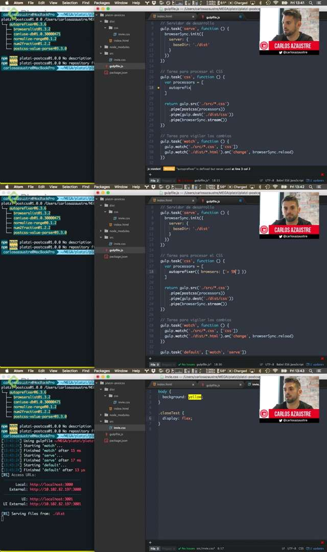 Curso Platzi: Diseño web con PostCSS, el futuro de CSS
