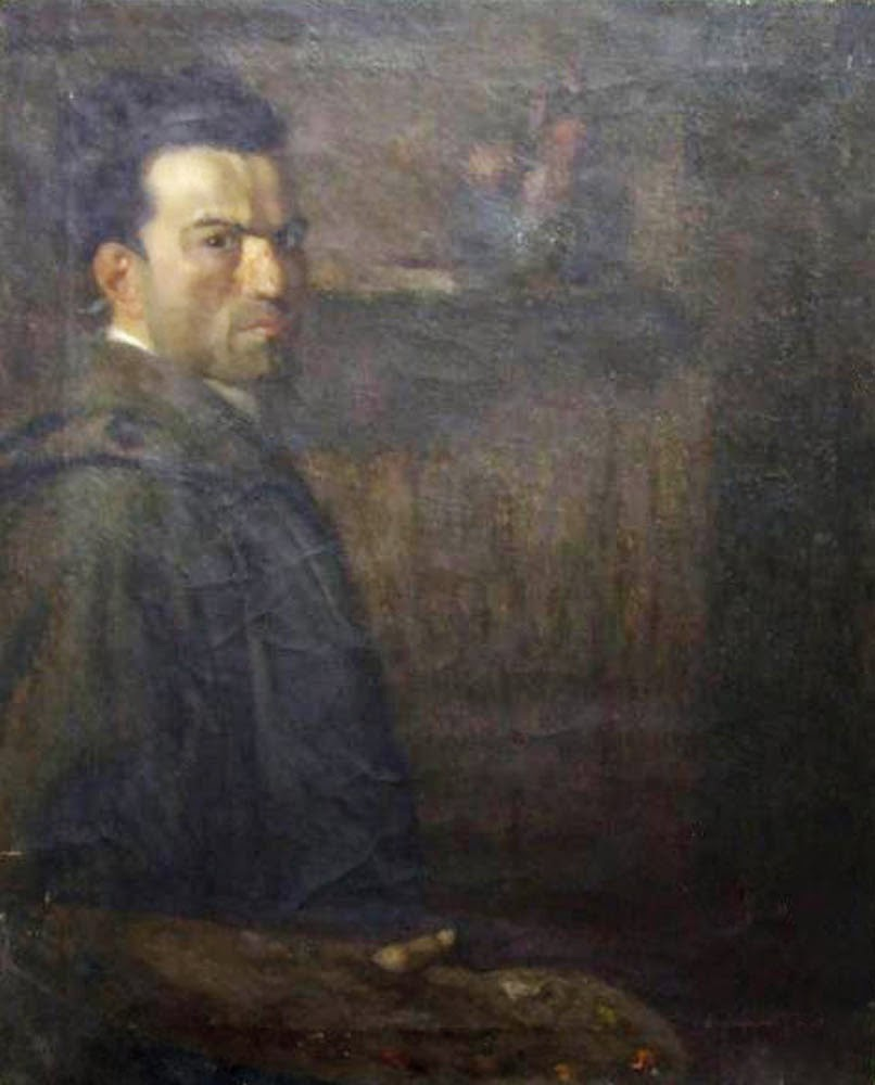 Lino Baccarini, Self Portrait, Portraits of Painters, Fine arts, Portraits of painters blog, Paintings of Lino Baccarini, Painter Lino Baccarini