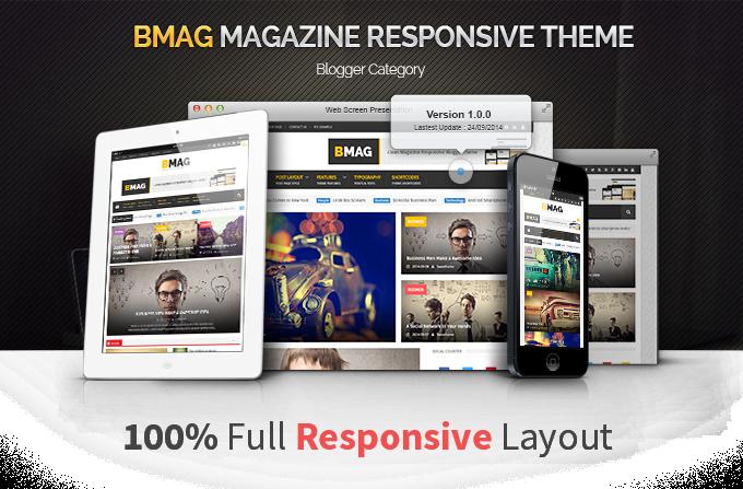 BMAG - Magazine Responsive Blogger Template - 6