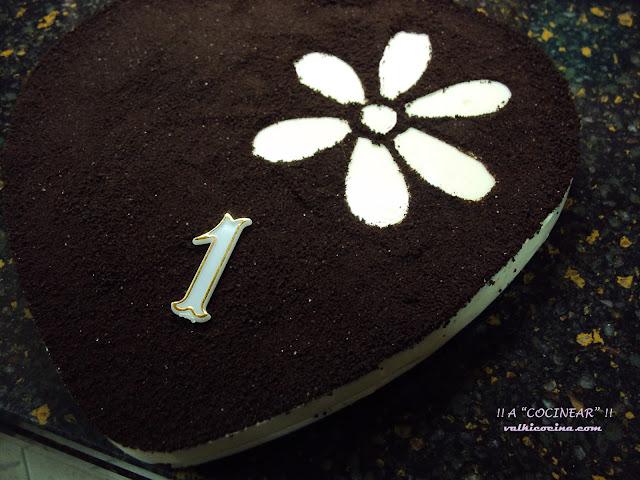 Tarta de galletas Oreo