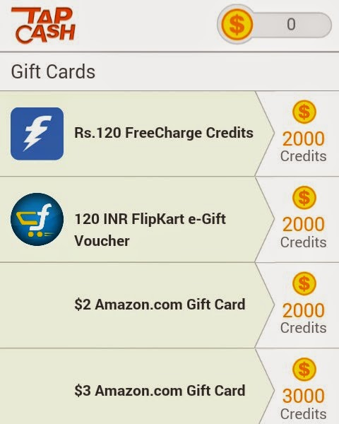 Earn Unlimited Freecharge Freefund Code : Tap Cash Android