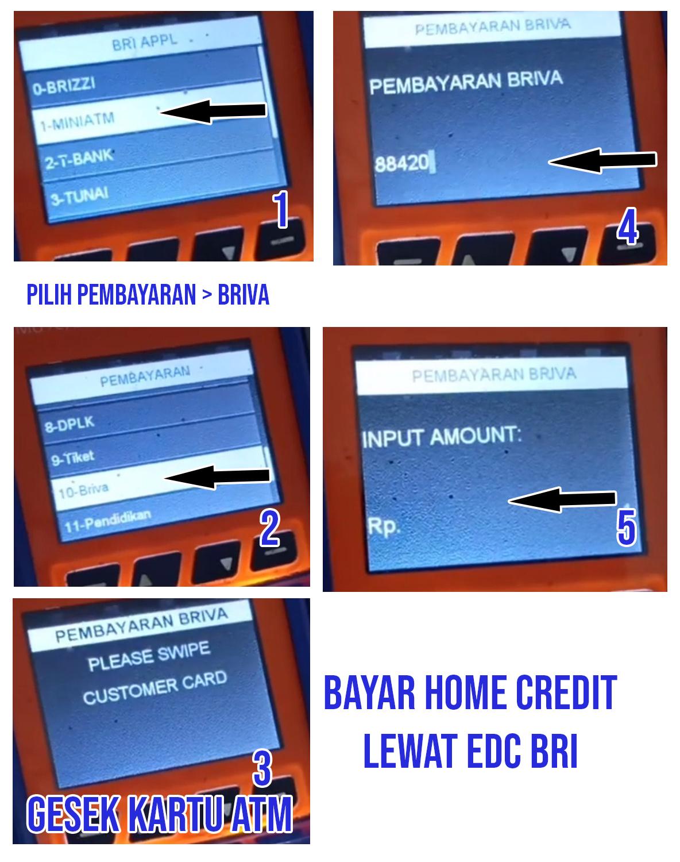 Pembayaran Home Credit Via BRILink