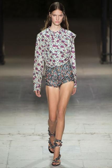 Isabel Marant floral hotpants ss17