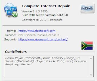 Complete Internet Repair 3.Build.2850 32/64 Bit Terbaru