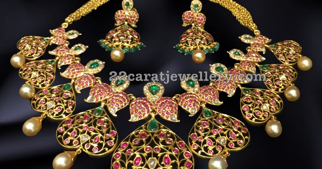 Old Burmese Rubies Choker Jewellery Designs