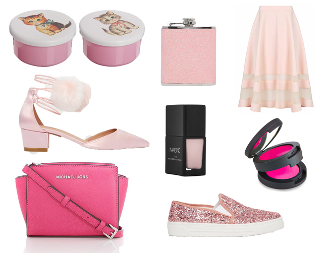 Pink-themed shopping wishlist