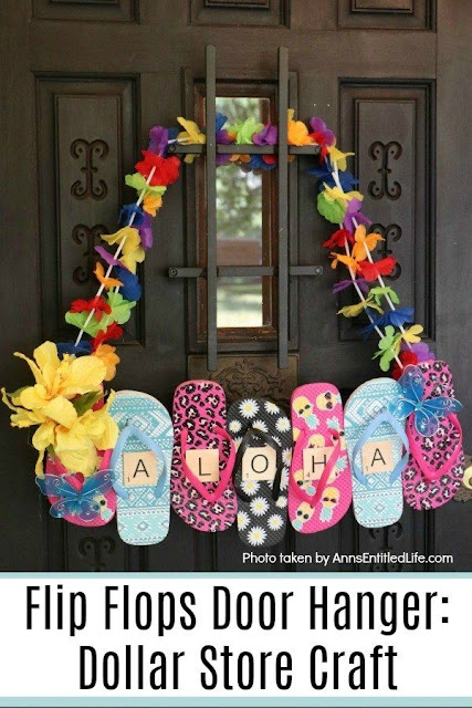 Flip Flop Door Hanger Quick and Easy Dollar Store Craft
