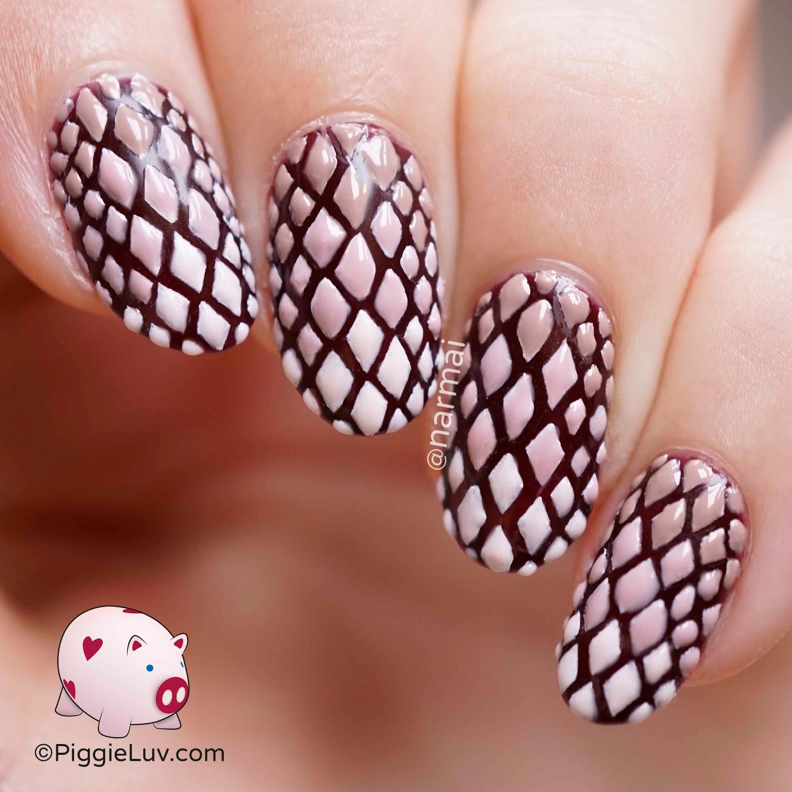 Piggieluv 3d Dragon Skin Nail Art