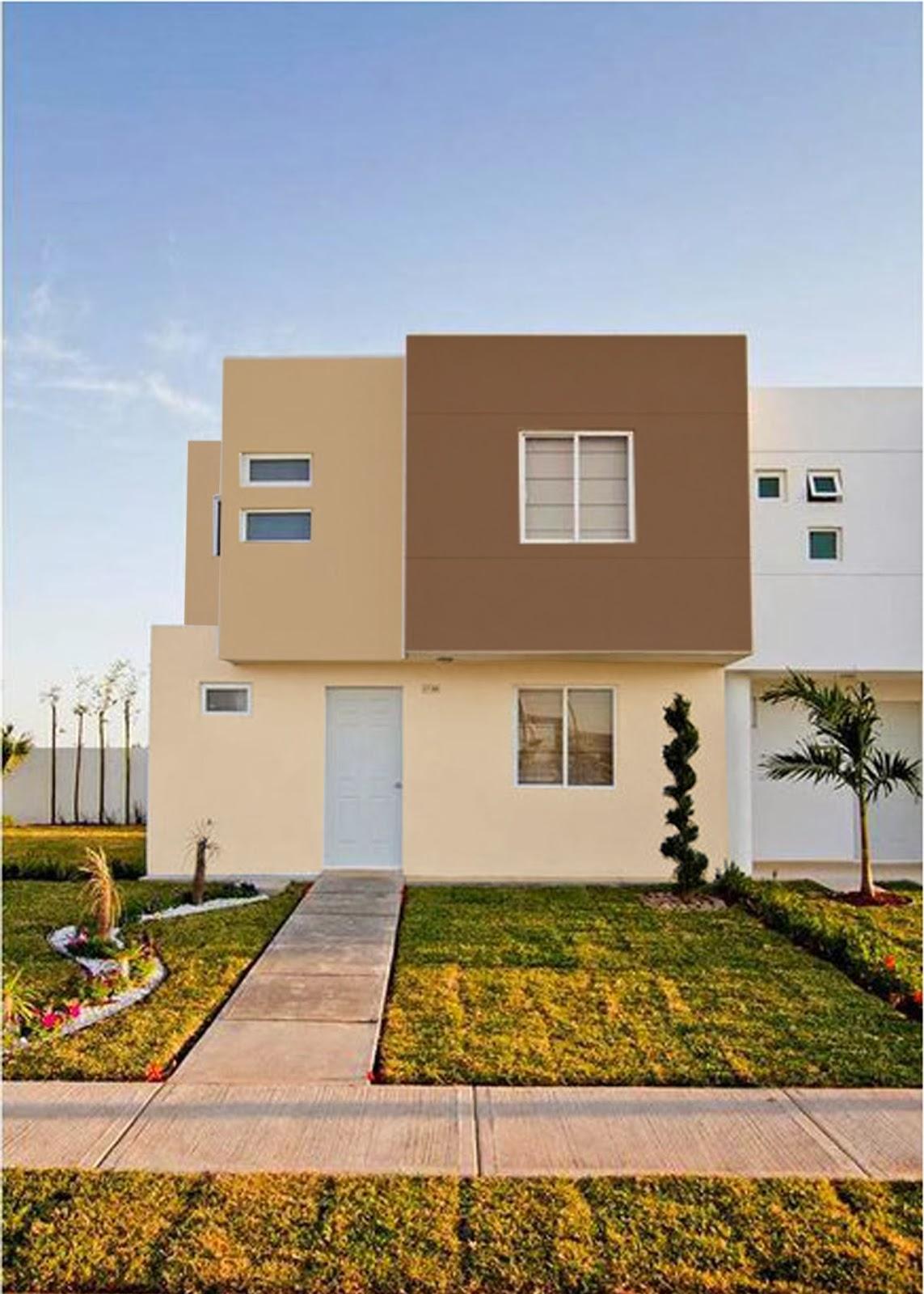 Decoraci n y afinidades colores para las fachadas - Colores pintura exterior ...