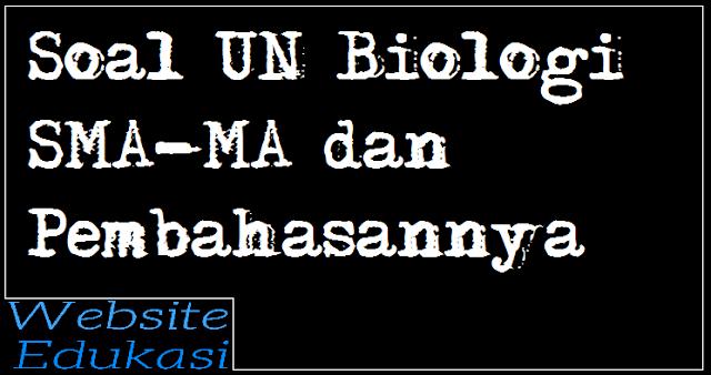 Contoh Soal UN/UNBK Biologi SMA MA dan Pembahasannya