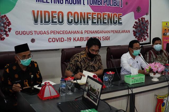 Rafdinal bersama M.Fahri saat berkunjung ke Kantor Bupati Sigi, Kamis (6/8)